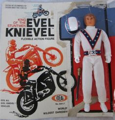 Vintage King of the Stuntmen Evel Knievel Flexible Action Figure by Ideal