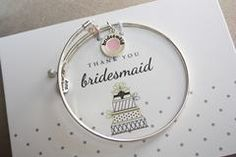 Cake - Bridesmaid - fill-in-the-blank bracelet set in stainless steel for Bridal Party | *More Colors Available