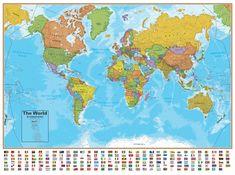Laminated World Map #2