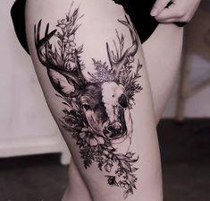 Tattoo Ideen Frauen - 30 Epic Tattoo Ideas For Woman - Tattoos - Frauen Neue Tattoos, Body Art Tattoos, Hand Tattoos, Piercing Tattoo, Piercings, Trendy Tattoos, Cool Tattoos, Tatoos, Hirsch Tattoo Frau