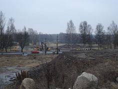 Södra Vägen Örebro, under konstruktion 11/1, 2009.