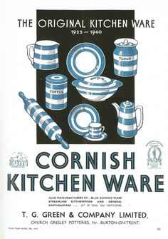 The most important Cornish Ware trade advertisement, from the Pottery Trade Gazette February 1940, it acknowledges the date '1925'. This simple 15th anniversary advert finally confirms that T.G Green were producing Cornish Ware as a trade marked name, a year earlier than previously accepted.