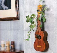 Old Guitars can still Rock! #planter #plant