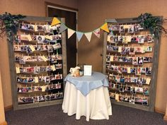 still, my soul {mom's funeral services} Photo display in foyer outside funeral services Graduation Party Planning, Graduation Party Decor, Grad Parties, Parties Food, School Parties, Graduation Photo Displays, Graduation Open Houses, Graduation Picture Boards, Funeral Reception