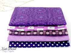 5 pcs 10x11 No Repeat Beautiful Fabric Stash by XadeBorealSupplies, $5.80