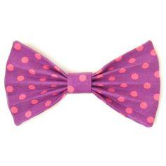 Kawaii Fabric Hair Bow Clip Barrette Pastel Goth Fairy Kei Pink Purple Polka Dot. $6.00, via Etsy.
