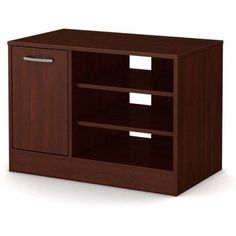 South Shore Smart Basics TV Stand with Storage for TVs up to 42 inch, Multiple Finishes, Brown