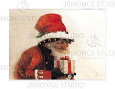 Large Fine Art Print  CHRISTMAS Gift por StudioJBMongeGoblin