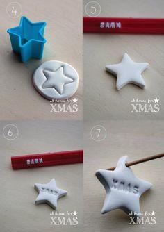 "Pink Frilly: ""at home for XMAS"" tutorial segnaposto natalizio Diy Arts And Crafts, Clay Crafts, Kids Christmas, Christmas Crafts, Navidad Diy, Minimalist Christmas, Xmas Decorations, Washi Tape, Gift Wrapping"