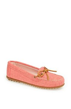 Minnetonka Canvas Moccasin available at #Nordstrom