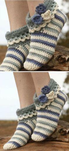 Crochet Slippers Fre