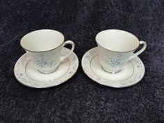 $14.99 Noritake Carolyn 2693 Tea Cup Saucer Set - TWO MINT! (Multi Avail) #Noritake