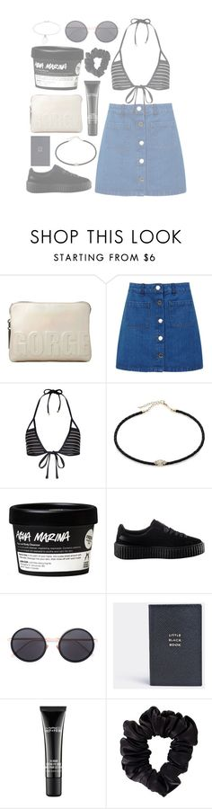 """""""Playa"""" by mode-222 ❤ liked on Polyvore featuring 3.1 Phillip Lim, Miss Selfridge, Vitamin A, Jacquie Aiche, Puma, Linda Farrow, Smythson, MAC Cosmetics, American Apparel and Topshop"""