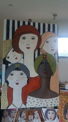 The grace of innocence - Art ideas Wal Art, Painting People, Arte Pop, Portrait Art, Portraits, Aboriginal Art, Diy Wall Art, Whimsical Art, Oeuvre D'art