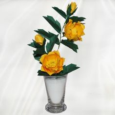 """Origami Peonies"" - 22 folded elements (origami flower & foliage) - Worldwide Delivery  - $79.99"