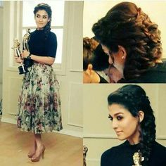 Nayanthara's hairstyles have always been easy to replicate and effortless to carry off. Try these 31 Nayanthara hairstyles and look like a star in no time! Indian Designer Outfits, Designer Dresses, Designer Sarees, Priyanka Chopra, Lehenga, Anarkali, Sabyasachi, Nayanthara Hairstyle, Katrina Kaif