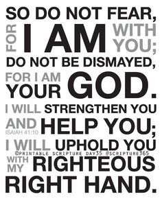 Isaiah 41:10. I AM your God. 8x10 DIY Printable Christian Scripture Poster. Bible Verse.. $6.50, via Etsy.