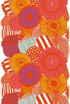 Tablecloth designed by Maija Louekari for Marimekko, available from Always Mod