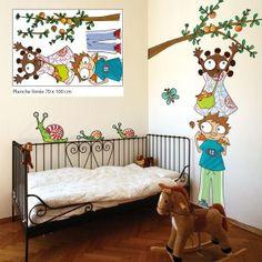 Sticker Aux pommesSérie-Golo : Donne de la couleur aux chambres des petits amateurs de fruits. .......................................................... Sticker Aux pommesSérie-Golo