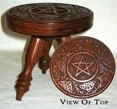 "Small Round Pentagram table 6"" WWW.EMERALDISLEUB.COM"