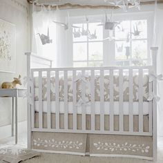 There's something so calming and sweet about a neutral nursery