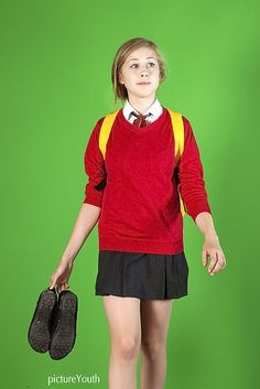 """How to use a green screen to put a different background behind your subject 