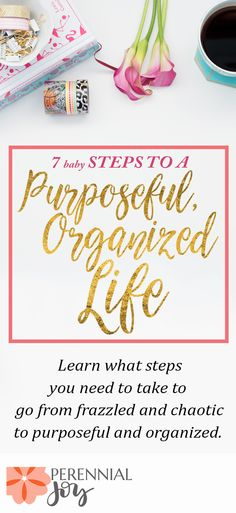 Purposeful living can start with these 7 baby steps included in this email course. Whether you want to start an exercise habit, devotional / prayer habit, be a better parent or work on your marriage, or whether you want to have better time management skills, this course will help you on your way to freeing up your schedule for the most important things in life. Say goodbye to frazzled with this FREE email course from Perennial Joy!