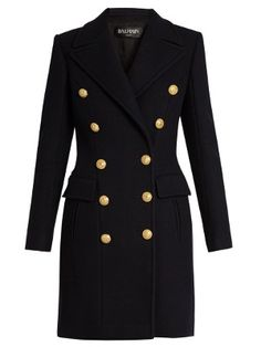 Double-breasted wool and cashmere-blend coat | Balmain | MATCHESFASHION.COM UK