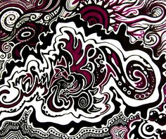 "Doodle No. 11 - by Nissa Askew - Sharpie marker on Bristol paper - 14"" x 17"""