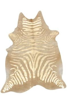 this is just beyond amazing.    Zebra pattern metalic gold Cowhide rug