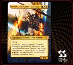 Derevi, Empyrial Tactician - 2014 Strata Strike Magic the Gathering (MTG) alter. www.stratastrike.com