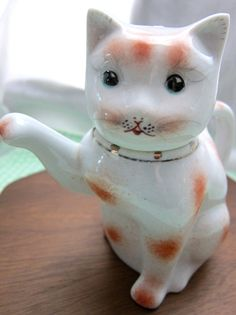 Vintage Cat Teapot Ceramic Made in China by retromeow on Etsy