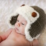 The Aviator Baby Hat - via @Craftsy