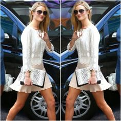 How to Chic: ROSIE HUNTINGTON WHITELEY - LACE BLOUSE