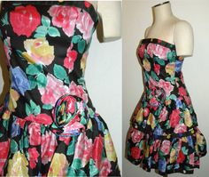 1980s 80's Dress / Large Floral Print / by JewvenchyVintageshop