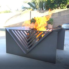 Steel Fire Pit, Wood Burning Fire Pit, Fire Pits, Wood Fire Pit, Fire Pit Frame, Garden Ladder, Garden Fire Pit, Weathering Steel, Outdoor Dining Set