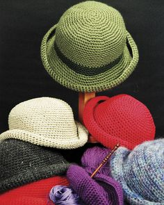 Crocheted Crusher Hat - PDF pattern
