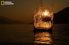 In an experiment I got this click. Sunrise and a stone in the water set up the picture for me.