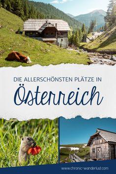 Kennst du schon meine Reisetipps für Österreich? Eine ausführliche Auflistung an Orten und Dingen, die du in Österreich auf jeden Fall erlebt haben musst! #Österreich #Reisetipps #Bestof #BucketList Most Beautiful, Beautiful Places, List, Day Trips, Wonders Of The World, Austria, Wanderlust, Camping, Mountains