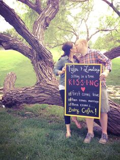 Pregnancy Reveal - this is cute idea for someday