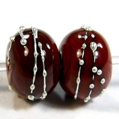 Opaque Red Flint Cool Color Handmade Lampwork