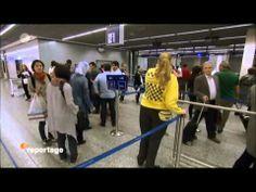 Am Flughafen in Frankfurt...