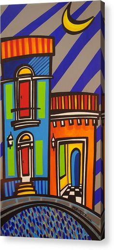 Art work inspired by Puerto Rico, Old San Juan.The city is characterized by its narrow, blue cobblestone streets and flat-roofed brick and stone buildings dating back to the and century when Puerto Rico was a Spanish possession. Colombian Art, Puerto Rico History, Caribbean Art, Caribbean Culture, Sale Poster, Elementary Art, Christmas Art, Ancient Art, Fine Art America