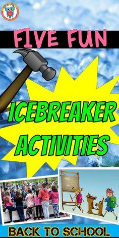 Fun icebreaker activities for back to school. School Staff, New School Year, School Fun, First Day Of School, School Ideas, School Icebreakers, Icebreaker Activities, Back To School Activities, September Activities