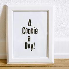 A+COOKIE+A+DAY++Letterpress+Print+von+smallcapsberlin+auf+Etsy,+€15,00