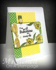 On A Stampage...: Sunshine using Words of Inspiration and Spring Blossoms Stamp Sets