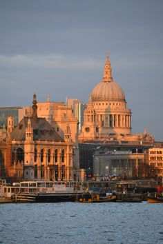 St. Paul's Cathedal in the afternoon sun, London
