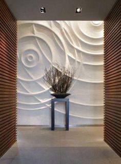 Swooping Linien 3D-Panels, um Ihren Flur erstaunlich