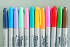 Colorful Sharpies// I have some that are similar to these, a lot of them I don't know where they are though..