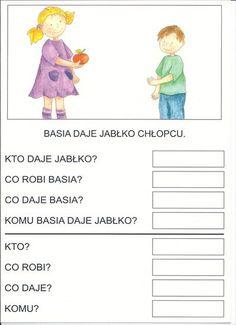 Użyj STRZAŁEK na KLAWIATURZE do przełączania zdjeć Alphabet Activities, Activities For Kids, Polish Language, Cute Pins, Comprehension, Montessori, Hand Lettering, Teacher, Writing